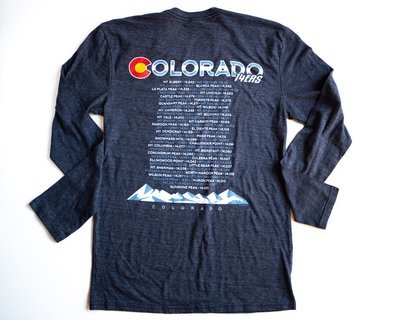 Colorado BACK - 14ers (Navy)