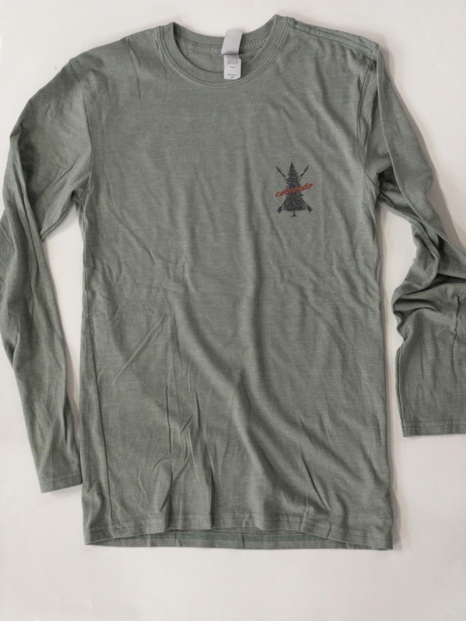 Grey Green Colorado Tree T-shirt 00023