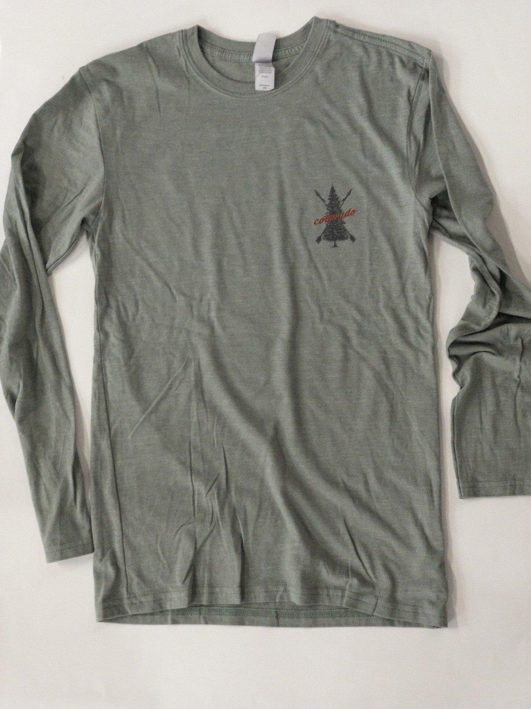 Grey Green Colorado Tree T-shirt