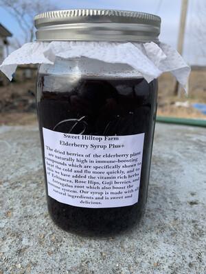 30 oz Full Quart Elderberry Syrup+