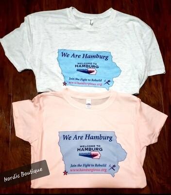 Unisex Adult 'We Are Hamburg' T-Shirt Heathered Gray Large