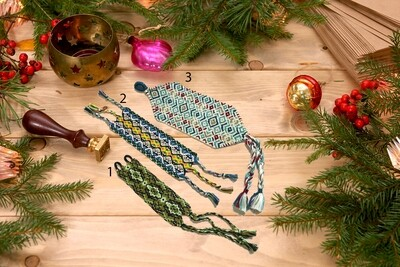 Фенечка широкая. ручное плетение.