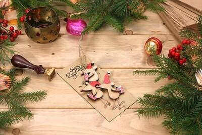 Набор маленьких елочных игрушек - Мышки