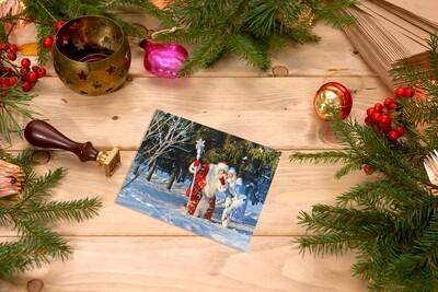Фотография Деда Мороза и Снегурочки