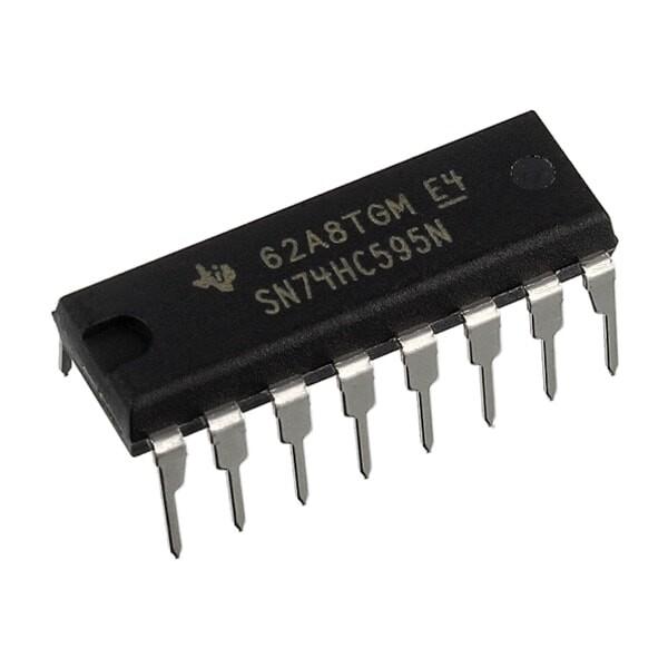 Registru deplasare 8 bit, 74HC595