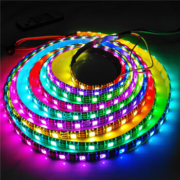 Banda LED adresabila, RGB, WS2812, 60led/m, IP67, 10cm