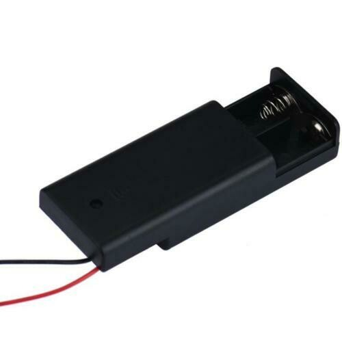 Suport 2 baterii AA cu capac si intrerupator