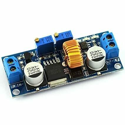 Modul coborator, tensiune si amperaj reglabil, XL4015, 1.25-36VDC, 0-5A, 75W