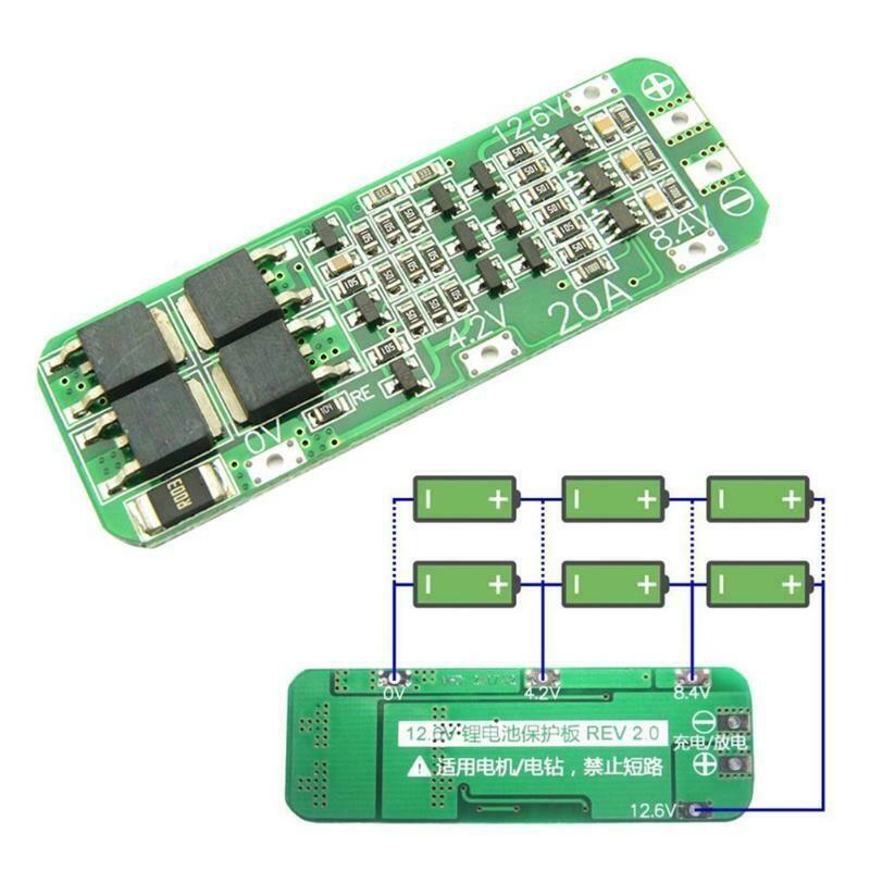 Modul BMS 3S, 12.6V, 20A