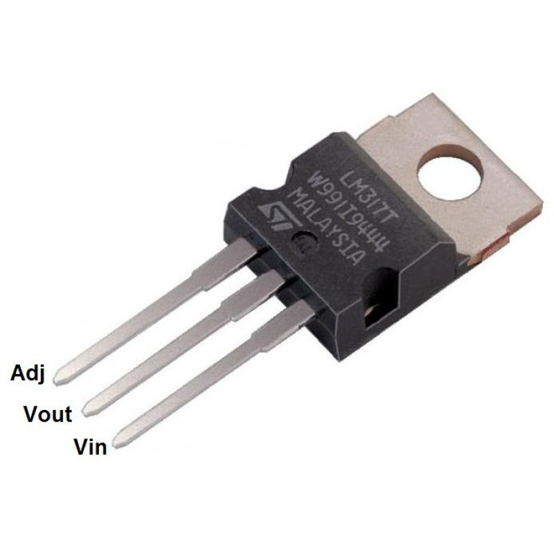 Regulator voltaj LM317T LM317
