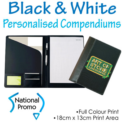 Black and White A4 Compendiums