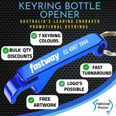 Metal Bottle Opener Keyring