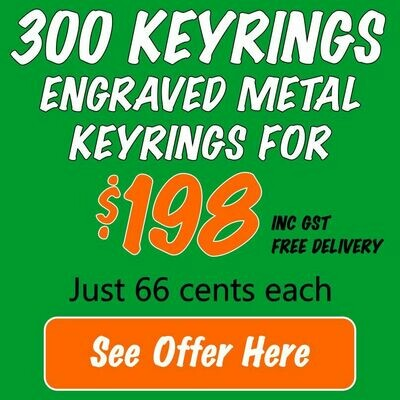 300 Keyring Openers for $198 FREE DELIVERY