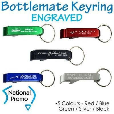 Full Colour Print Bottlemate Metal Bottle Opener Keyring