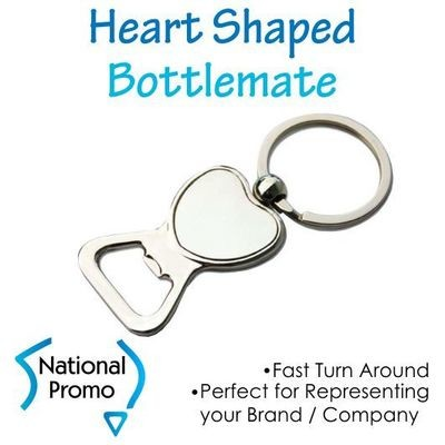 Heart Shape Bottle Opener Keyring