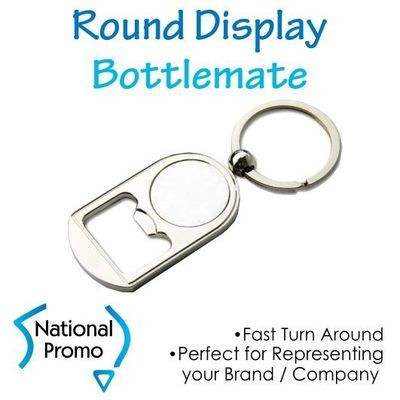 Round Display Bottle Opener Keyring