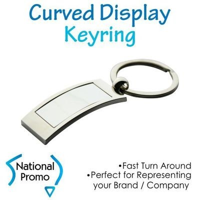 Full Colour Print Curved Display Keyring