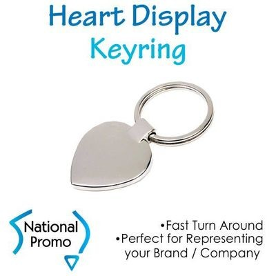 Heart Shape Display Keyring