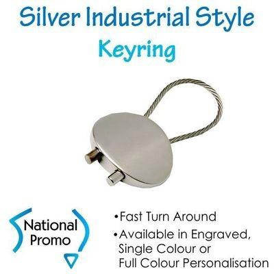 Silver Industrial Keyring