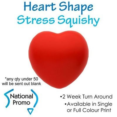 Full Colour Print Red Heart Squishy