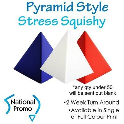 Full Colour Print Pyramid Squishy