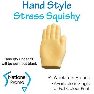 Full Colour Print Hand Style Stress Squishy