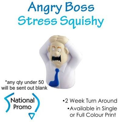 Full Colour Print Angry Boss Stress Squishy