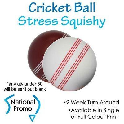 Full Colour Print Cricket Ball Stress Squishy