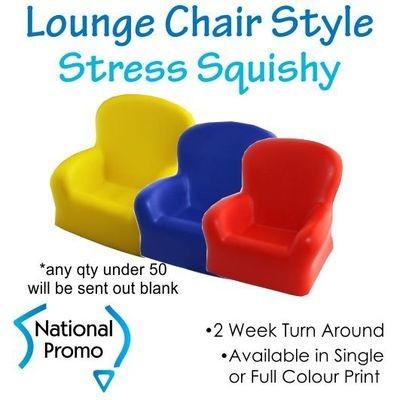 Full Colour Print Lounge Chair Stress Squishy