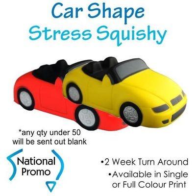 Full Colour Print Sports Car Stress Squishy