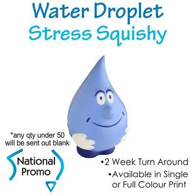 Full Colour Print Water Droplet Stress Squishy