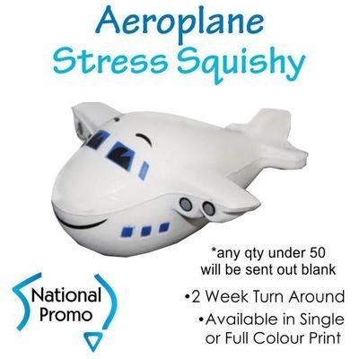 Full Colour Print Aeroplane Stress Squishy