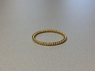 Silberring Kordeldesign vergoldet