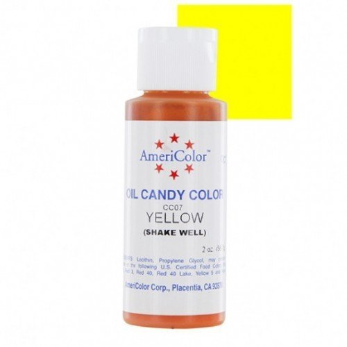 AmeriColor Oil Candy Yellow 2 oz