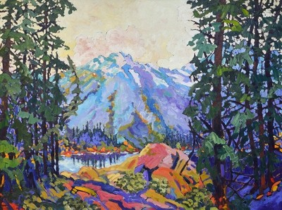 High Mountain Lake, 48x36, SOLD