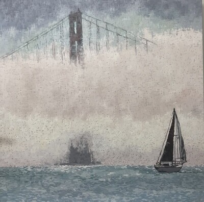 Golden Gate in the Fog, 48x48