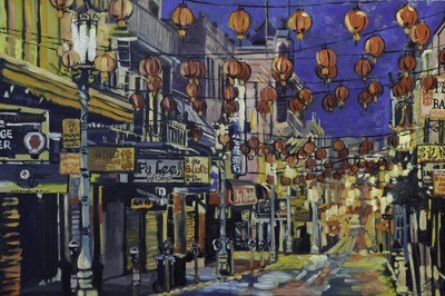 China Town 2, 36x24, SOLD