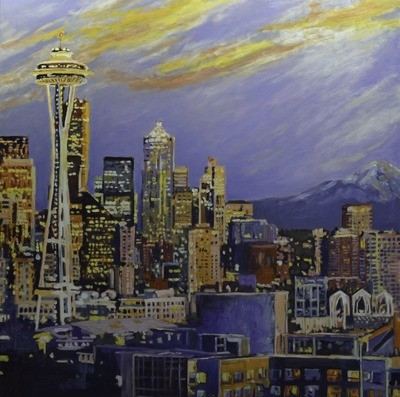 Seattle, 48x48, 2017 SOLD