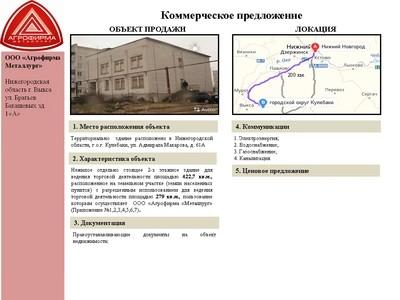 Объект недвижимости - г. Кулебаки ул. Адмирала Макарова д.61 А