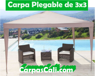 CARPA PLEGABLE DE 3X3 + TULA
