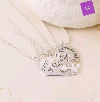 f0b6e1c4a3 3 pcs Best Friends Forever Necklace