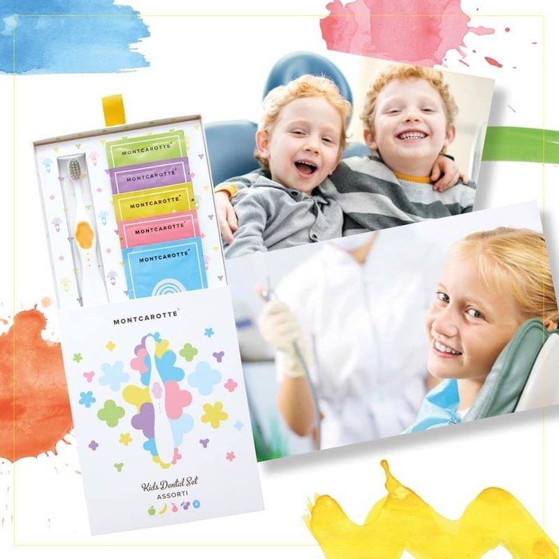 Подарочный набор детской косметики для зубов Kids Dental Set Assorti Green 0+