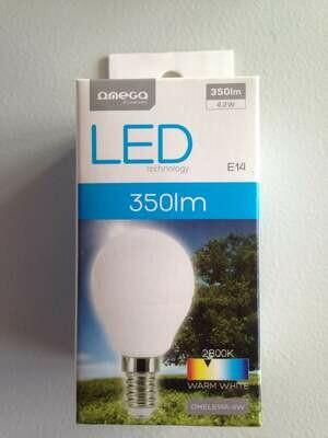 Лампочка OMEGA LED BULB COMFORT 2800K E14 4W [429832] (350LM)