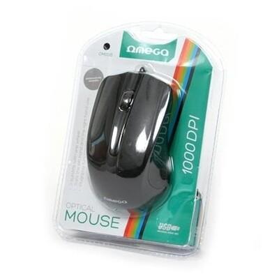 Мышь проводная OMEGA OM-05 BLISTER (OM05B) [417860] (BLACK/BLACK)