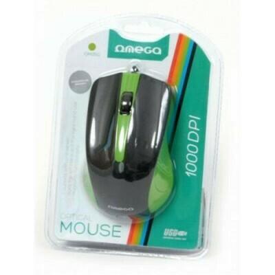 Мышь проводная OMEGA OM-05 BLISTER (OM05G) [417884] (BLACK/GREEN)