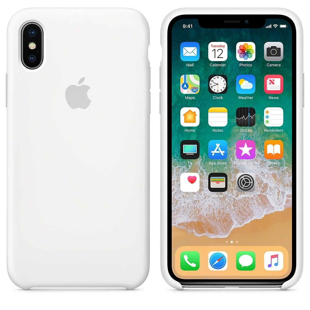 Чехол APPLE iPHONE Х FLYPOWER PLASTIC PACKAGING [381189] (WHITE)