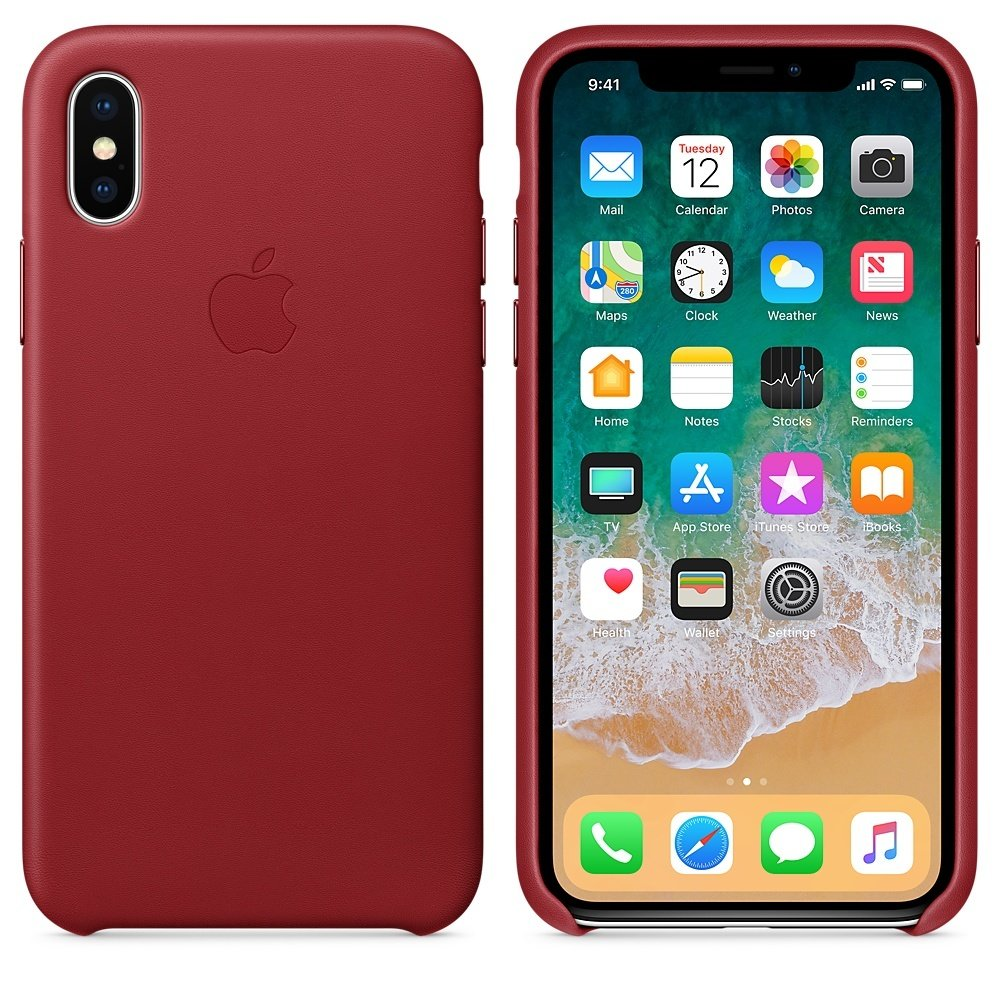 Чехол APPLE iPHONE Х FLYPOWER PLASTIC PACKAGING [401184] (TRANSPORT RED)