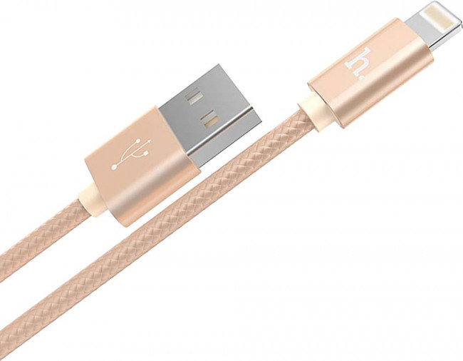 Кабель APPLE HOCO X2 KNITTED CHARGING CABLE [032144] (GOLD)