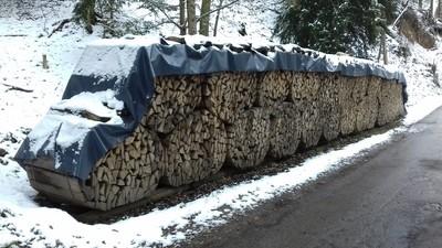Holzabdeckung