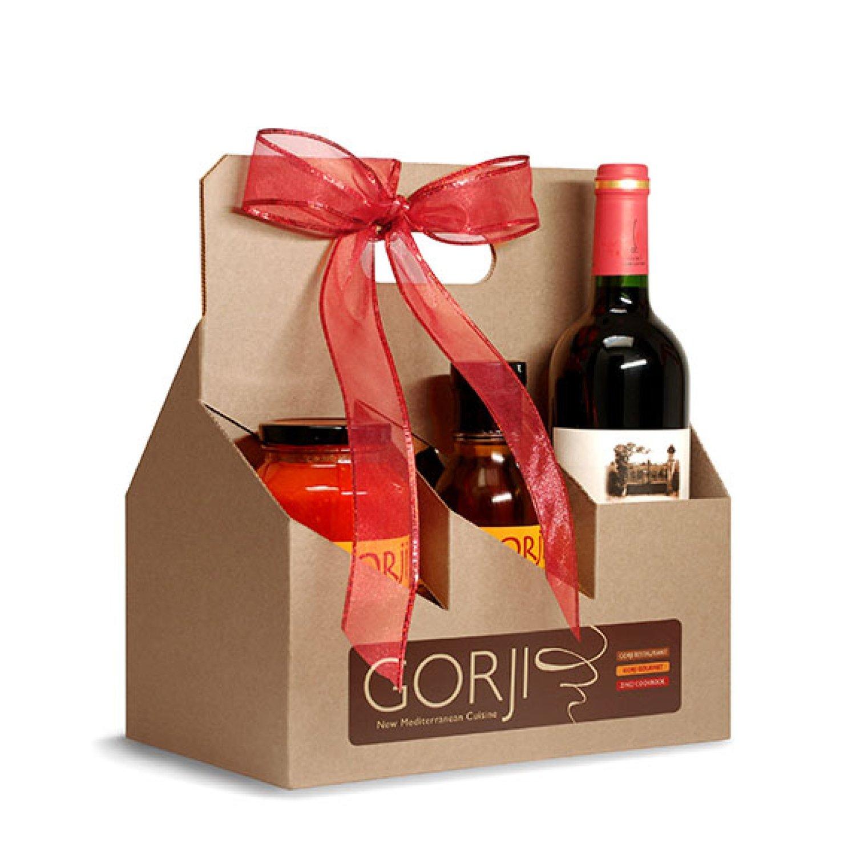 Wine + 5 Gorji Gourmet Sauces Gift Pack